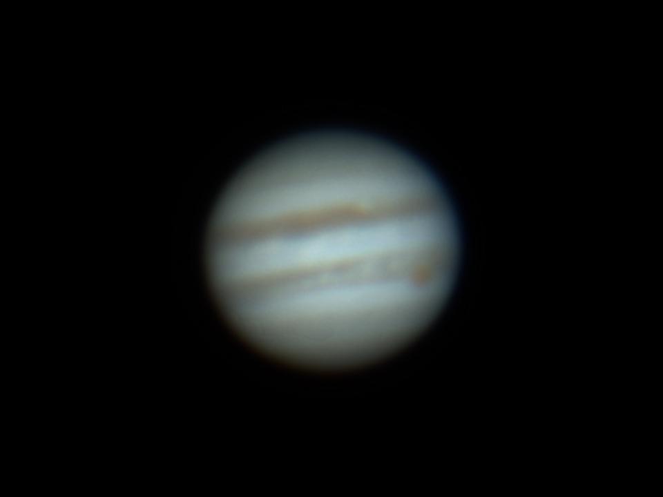 Jupiter mit großem roten Fleck (GRF)